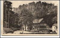 Jonsdorf Sachsen Postkarte ~1920/30 Hotel Gondelfahrt mit Nonnenfelsen Auto