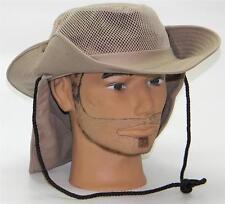 Men Summer Safari Outback Mesh Summer Hat W/Neck Flap #981 Khaki Small