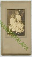 Original Antique Photo-Seymour Indiana-4 Young Children-Curls-Bow-Little Ones