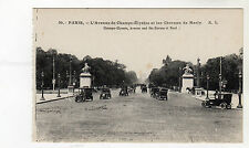 Champs Elysees - Paris Photo Postcard c1909