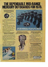 1978 Print Ad of Mercury Outboard Motor Models 402 500 700 800 900 1150 & 1400
