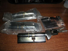 3 MEDECO CYLINDER LOCKS W/KEYS M3 SECURITY MEDCO3-BX SR-LOCK OPC-FN-KY 23T13066