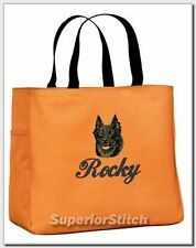 Beauceron embroidered essential tote bag 18 Colors