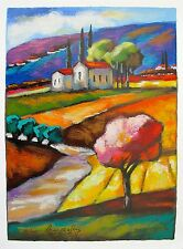 SLAVA BRODINSKY Hand Signed Limited Edition Art Serigraph HOMESTEAD CHARM