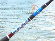 6'CUSTOM DEEP DROP ROD, 1 PC DETACHABLE, AFTCO ROLLERS, LGE SWIVEL TIP 50-100LBS