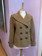 BETTY JACKSON WOMENS LADIES JACKET COAT SIZE 12 CAMEL BROWN DOUBLE BREASTED