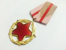ALBANIA ORDER FOR GOOD SERVICE TO STATE AND SOCIETY 1 CLASS ALBANIAN MEDAL R3 ++