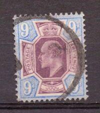 1905 F/usati KE7 SG250a 9d Opaco Viola & Blu oltremare su carta calcarei Lovely