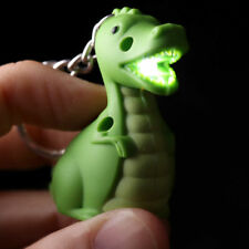 Green Dinosaur Keyring LED Torch - Novelty Gift Flashlight Light Torch Key Chain