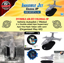 HEROCLIX INVISIBLE JET COLOSSAL OP KIT - Vehicle + 2 Ape Superman/Flash Tokens