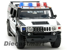 JADA HEAT 1:24 HUMMER H2 2011 FAT TIRES POLICE WHITE