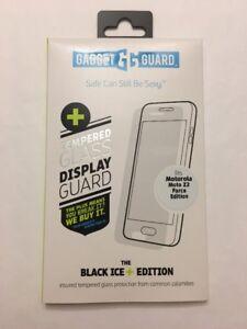 Gadget Guard:Tempered Black Ice + Glass Screen Guard for Motorola Moto Z2 Force