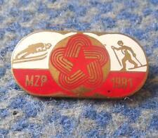 INTERNATIONAL CONTEST NORDIC SKI JUMPING SKI POLAND ZAKOPANE 1981 ENAMEL PIN