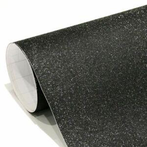 Película Adhesiva Negro Con Purpurina Para Coche Envase Y Tuning Coche Y Moto