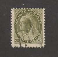 Canada stamp #84, used, Queen Victoria, 1900,  SCV $110