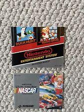 Mario Duck Hunt Nascar Challenge Nintendo Instruction Manual Booklet NO NES Game