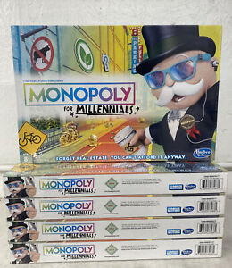 Hasbro Monopoly for Millennials Board Game (LOT OF 5)