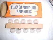 CHICAGO LIGHTING SR 605 SCREW MINIATURE Flash LIGHT BULB (LOT OF 5) NOS Lantern