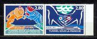 TIMBRES DE FRANCE ANNEE 1994 TUNNEL SOUS LA MANCHE SANS CHARNIERE N 2880 / 2881