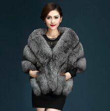 Grace Ladies Fox Fur Wedding Shawls Coat Faux Fur Vest Gilet Jacket Cape Parkas