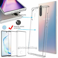 For Samsung Galaxy Note 10+ Plus 5G Clear Case With Full Cover Screen Protector