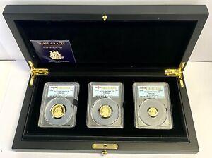 Three Graces Gold Proof Three Coin Sovereign Set, Alderney Mint, PCGS PR70 DCAM