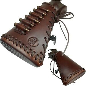 Handmade Cow Hide Leather Rifle Buttstock Retro Ammo Holder.45-70 308 30-06,NEW