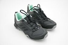 Adidas Outdoor Terrex AX3 Hiking Shoe Women's Grey/Black/Clear Mint US 7.5 USED