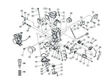 Keihin FCR Carburador/flotador todos Horizontal/diagrama parte #49