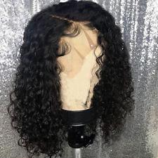 Short Bob Lace Front Deep Curly European Human Hair Wigs Glueless Real Hair Wig