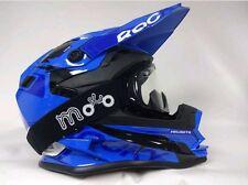 3GO XK188 Rocky Cub blau Kinder Motocross MX Offroad Helm Kostenlose Brille Größe S