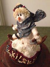 Boyds Resin Snowman Christmas Ornament Lars.Ski, Ski, Ski 1998 1St Edition New