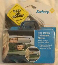 Safety First Flip Down Childview Mirror With Baby On Board Bonus Sticker Inside