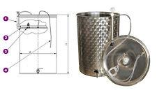 Serbatoio inox per vino olio galleggiante ad aria contenitore con coperchio new