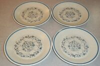 Set Of 4  Lenox Blue Breeze Temper Ware   Bread & Butter / Dessert Plates 6⅜""