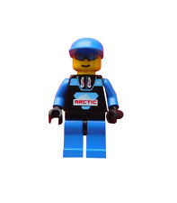 Lego Artic Black blaue Kappe Mann Minifigur Legofigur Figur arc003 Town Neu