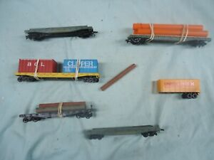 ho scale lot of 5 assorted trains, plus !! bachmann tyco and ????