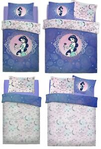 2 in 1 Aladdin Duvet Cover Set Princess Jasmine Girls Kids Bedding Disney