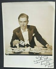 1940 John Scarne Signed Vintage Photo Magician Gambling Cards The Odds Against