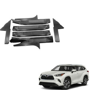 For Toyota Kluger 2021 Black Inner Door Sill Cover Threshold Bar Protector 6PCS