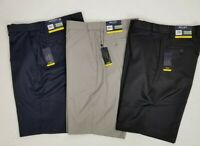 """Britches By Samtex Mens 10"""" Flat Front Easy Care Flex Waistband Golf Shorts New"""
