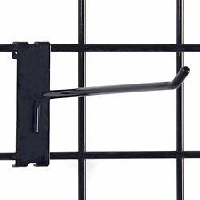 "Box of 25 New Standard Gridwall Black Peghook 10"" long - 1/4"" wire"