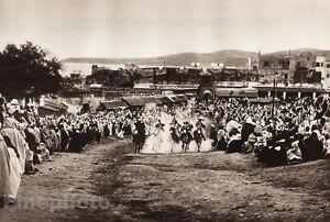 1924 Original MOROCCO Tangiers FANTASIA SOCCO Photo By MARCELIN FLANDRIN Lehnert