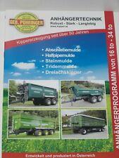 PÜHRINGER Anhängertechnik, Muldenkipper, Abschiebewagen Prospekt ( 715 )