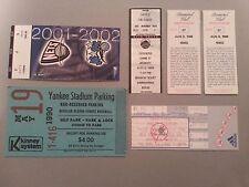 Baseball/Basketball Ticket Stub Lot Yankees, Mets, Nets with Bonus