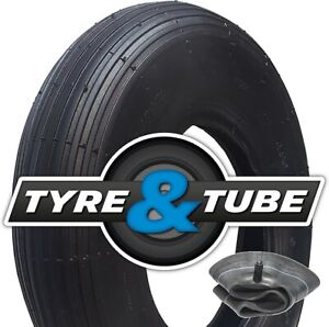 4.80/4.00-8 Tyre & Tube With Rib Pattern Tread 2ply Replacement Wheelbarrow Tyre