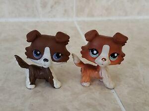 Littlest Pet Shop LPS Lot RARE Authentic Collies #1542 & No # Puzzle Collie