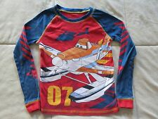 NO RESERVE!! DISNEY STORE 'PLANES' LONG SLEEVE SLEEP SHIRT-SIZE 8