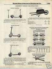 1924 PAPER AD Motoy Buddie Speed Way King Sidewalk Scooter