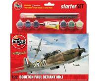 AIRFIX 1:72 BOULTON PAUL DEFIANT MK.I MODEL AIRCRAFT KIT STARTER SET A55213